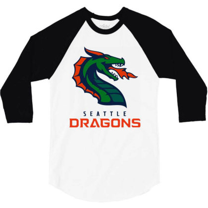 Awesome Dragons 3/4 Sleeve Shirt Designed By Star Store