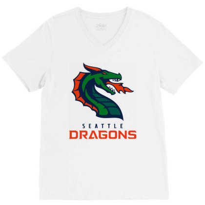 Awesome Dragons V-neck Tee Designed By Star Store