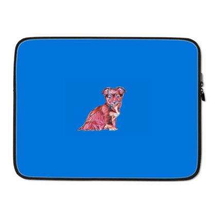 Cute Terrier Crossbreed Puppy Laptop Sleeve Designed By Kemnabi