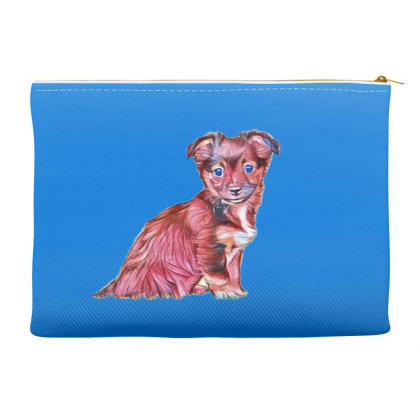 Cute Terrier Crossbreed Puppy Accessory Pouches Designed By Kemnabi