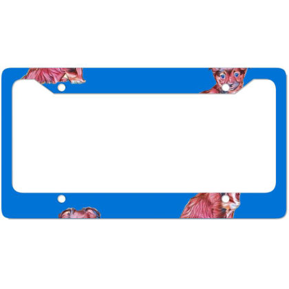 Cute Terrier Crossbreed Puppy License Plate Frame Designed By Kemnabi