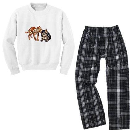 Cute Little Puppy Grooming Ki Youth Sweatshirt Pajama Set Designed By Kemnabi