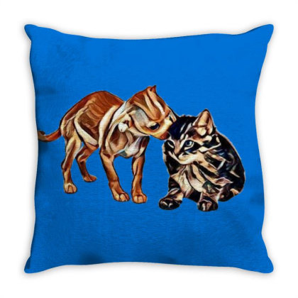 Cute Little Puppy Grooming Ki Throw Pillow Designed By Kemnabi