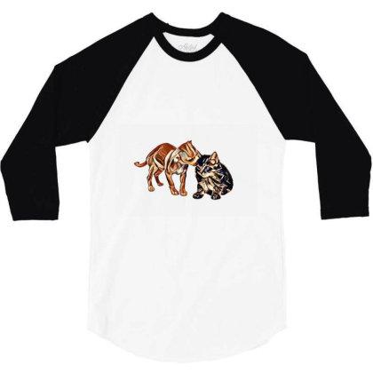 Cute Little Puppy Grooming Ki 3/4 Sleeve Shirt Designed By Kemnabi