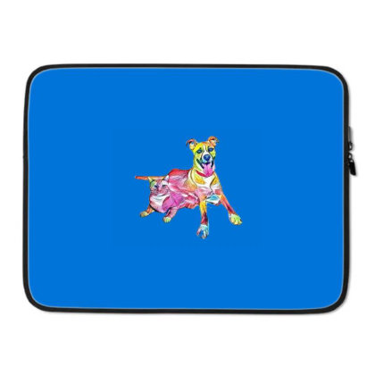 Tan Color Large Mixed Breed D Laptop Sleeve Designed By Kemnabi