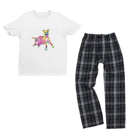 Tan Color Large Mixed Breed D Youth T-shirt Pajama Set Designed By Kemnabi
