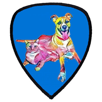 Tan Color Large Mixed Breed D Shield S Patch Designed By Kemnabi