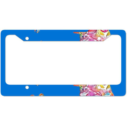 Tan Color Large Mixed Breed D License Plate Frame Designed By Kemnabi