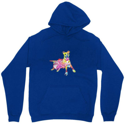 Tan Color Large Mixed Breed D Unisex Hoodie Designed By Kemnabi