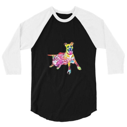 Tan Color Large Mixed Breed D 3/4 Sleeve Shirt Designed By Kemnabi