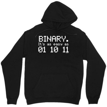 Binary Easy As 01 10 11 T Shirt Birthday Computing Science Gift Birthd Unisex Hoodie Designed By G3ry