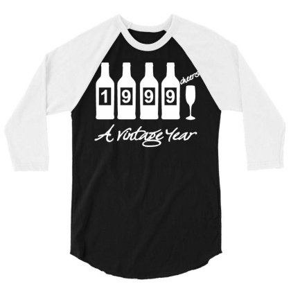 Bottles 1999 Mens Funny 21st Birthday T Shirt 21 Year Old Gift Present 3/4 Sleeve Shirt Designed By G3ry