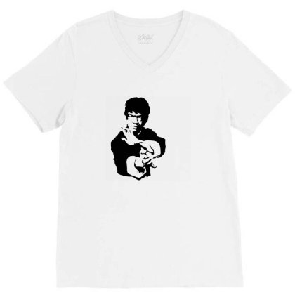 Bruce Lee Dj T Shirt Funny Birthday Cotton Tee Vintage Gift For Men Wo V-neck Tee Designed By G3ry