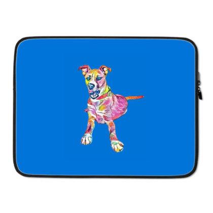 Large Mixed Breed Dog Lying D Laptop Sleeve Designed By Kemnabi