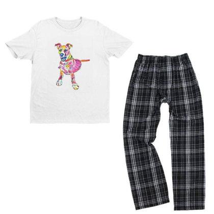 Large Mixed Breed Dog Lying D Youth T-shirt Pajama Set Designed By Kemnabi