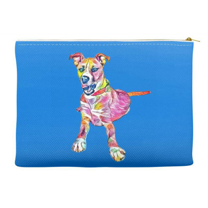 Large Mixed Breed Dog Lying D Accessory Pouches Designed By Kemnabi