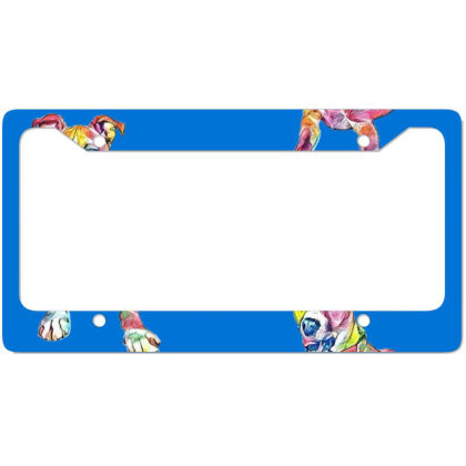 Large Mixed Breed Dog Lying D License Plate Frame Designed By Kemnabi