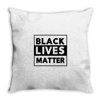 Black Lives Matter Throw Pillow Designed By Qudkin