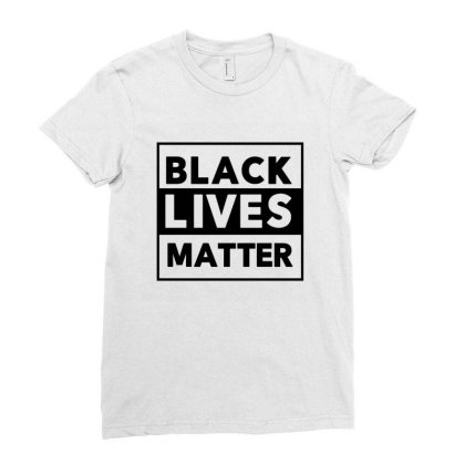 Black Lives Matter Ladies Fitted T-shirt Designed By Qudkin