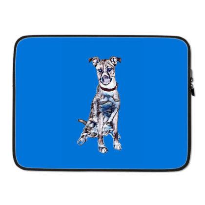 Large Tan And White Dog Sitti Laptop Sleeve Designed By Kemnabi