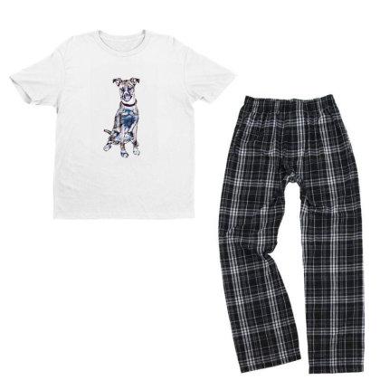 Large Tan And White Dog Sitti Youth T-shirt Pajama Set Designed By Kemnabi
