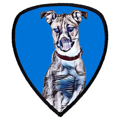 Large Tan And White Dog Sitti Shield S Patch Designed By Kemnabi