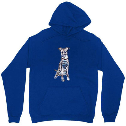 Large Tan And White Dog Sitti Unisex Hoodie Designed By Kemnabi