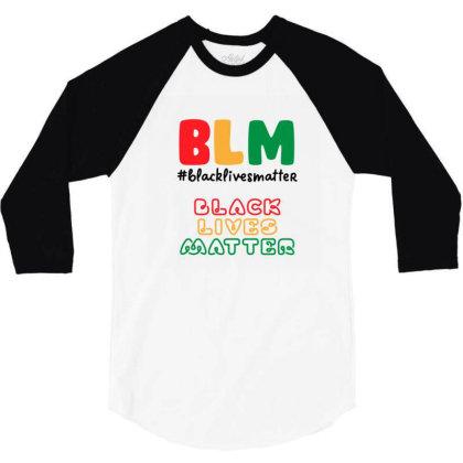 Black Lives Matter 1865 3/4 Sleeve Shirt Designed By Qudkin