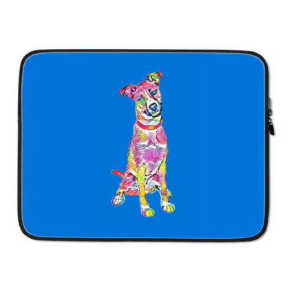 Friendly And Happy Tan And Wh Laptop Sleeve Designed By Kemnabi