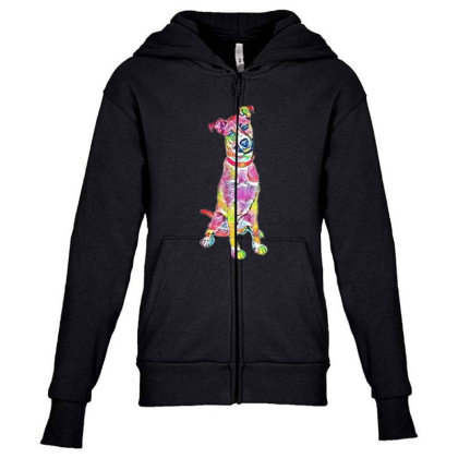 Friendly And Happy Tan And Wh Youth Zipper Hoodie Designed By Kemnabi