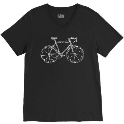 Cycling T Shirt Funny Novelty Mens Tee Tshirt   Bike Part Words V-neck Tee Designed By G3ry