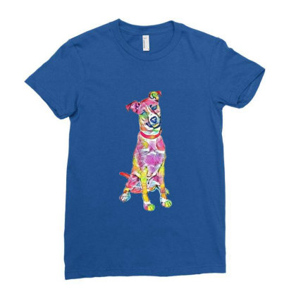 Friendly And Happy Tan And Wh Ladies Fitted T-shirt Designed By Kemnabi