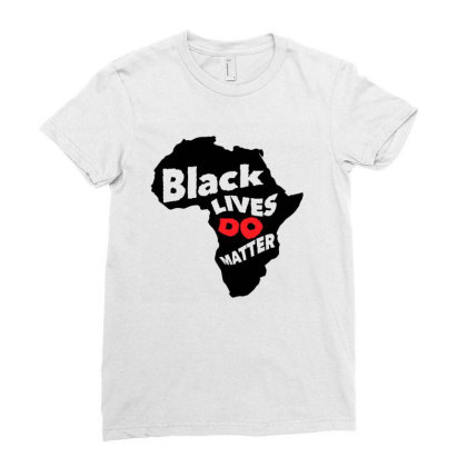 Black Lives Do Matter Ladies Fitted T-shirt Designed By Qudkin