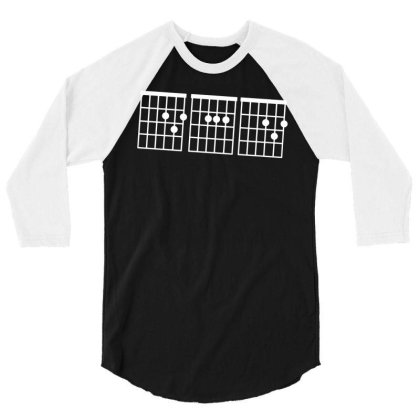 Dad Guitar Chord Funny Guitarist Gifts Father's Day Men T Shirt Cotton 3/4 Sleeve Shirt Designed By G3ry