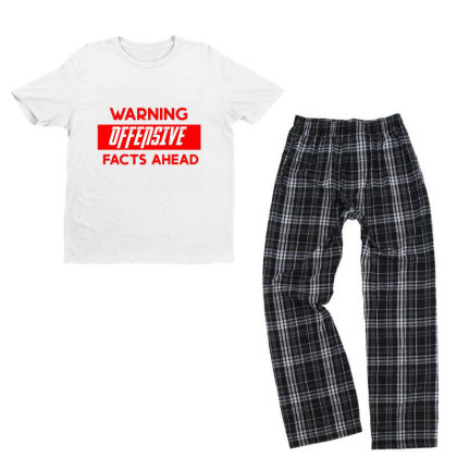 Warning Offensive Facts Ahead Youth T-shirt Pajama Set Designed By Cloudystars