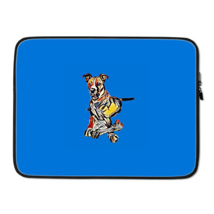 Large Dog Laying With A Big C Laptop Sleeve Designed By Kemnabi