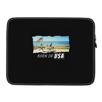 Born In Usa Laptop Sleeve Designed By Sb T-shirts