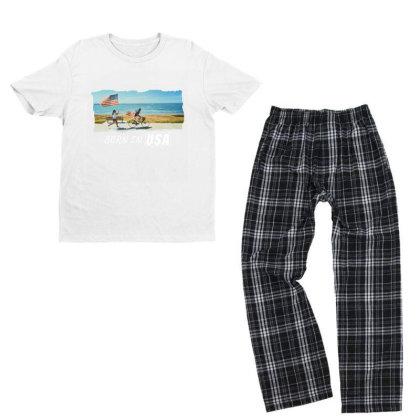 Born In Usa Youth T-shirt Pajama Set Designed By Sb T-shirts