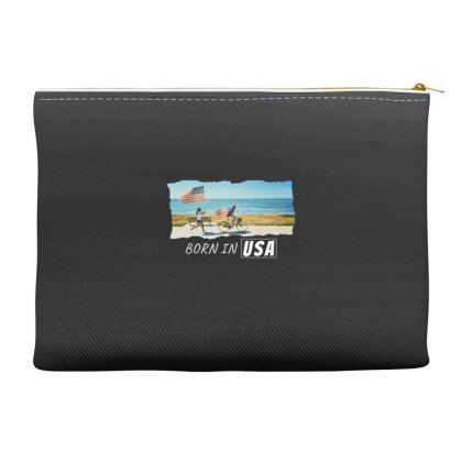 Born In Usa Accessory Pouches Designed By Sb T-shirts
