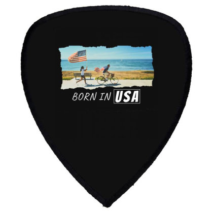 Born In Usa Shield S Patch Designed By Sb T-shirts