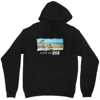 Born In Usa Unisex Hoodie Designed By Sb T-shirts