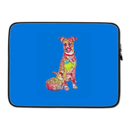 Large Crossbreed Dog Sitting Laptop Sleeve Designed By Kemnabi
