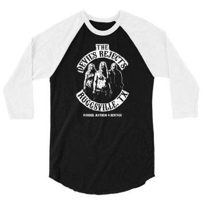 Devils Tshirt Rejects Funny 3/4 Sleeve Shirt Designed By G3ry
