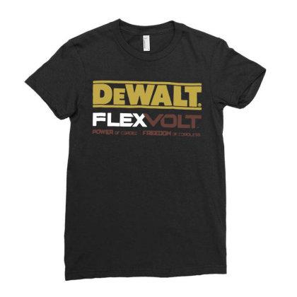 Dewalt Flexvolt Logo T Shirt Funny Cotton Tee Vintage Gift For Men Wom Ladies Fitted T-shirt Designed By G3ry