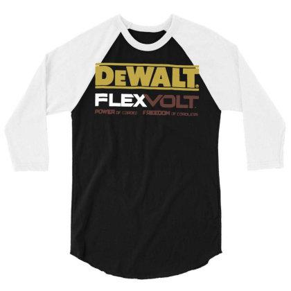 Dewalt Flexvolt Logo T Shirt Funny Cotton Tee Vintage Gift For Men Wom 3/4 Sleeve Shirt Designed By G3ry