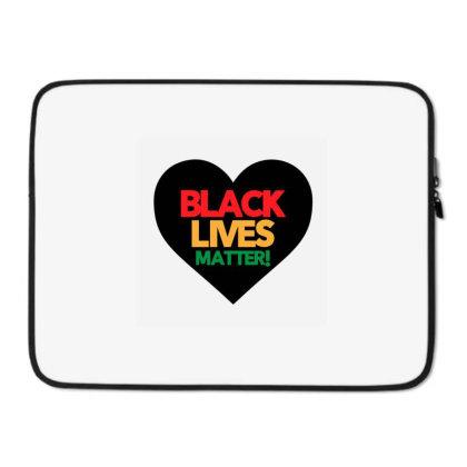 Black Lives Matter Heart Laptop Sleeve Designed By Qudkin