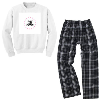 Dirt And Glitter Youth Sweatshirt Pajama Set Designed By Servicesbyah