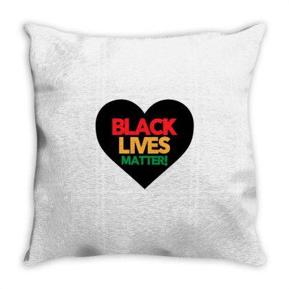 Black Lives Matter Heart Throw Pillow Designed By Qudkin