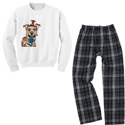 Closeup Of Large Breed Dog We Youth Sweatshirt Pajama Set Designed By Kemnabi