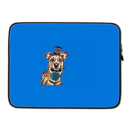 Closeup Of Large Breed Dog We Laptop Sleeve Designed By Kemnabi
